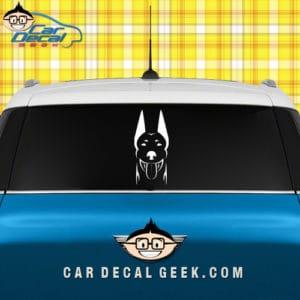 Doberman Dog Vinyl Car Window Decal Sticker