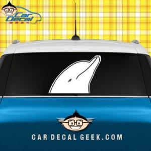 Dolphin Head Car Window Sticker Graphic