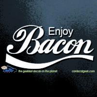 Enjoy Bacon Car Decal
