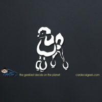 French Poodle Car Vinyl Decal