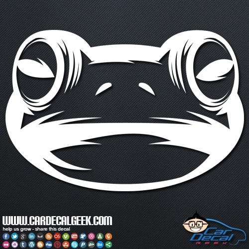 Frog Face Vinyl Car Decal Sticker