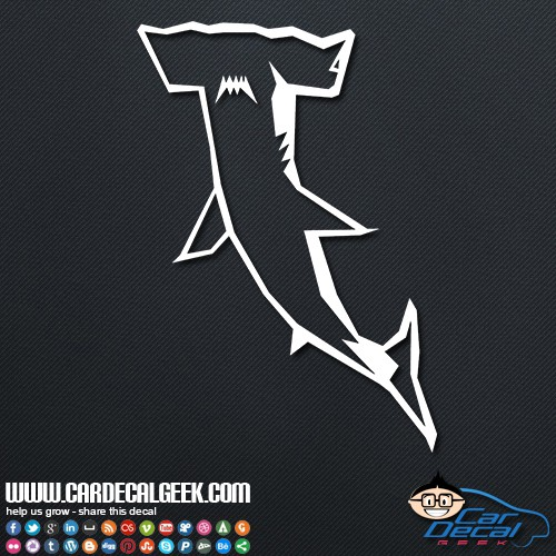 Hammerhead Shark Car Sticker