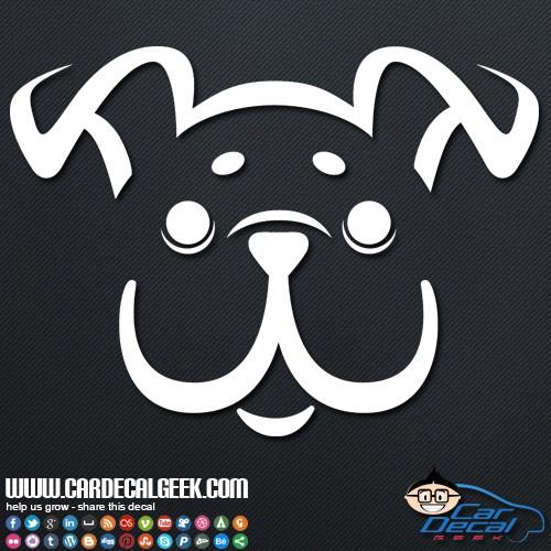 Decal sticker cute happy puppy dog car sticker