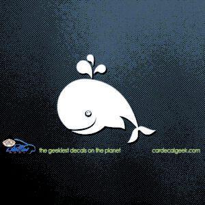 Fun Happy Whale Car Decal