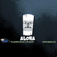 Hawaii Tiki Aloha Car Decal