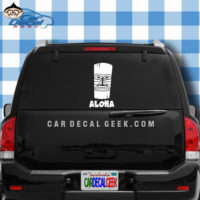 Hawaii Tiki Aloha Car Window Decal Sticker
