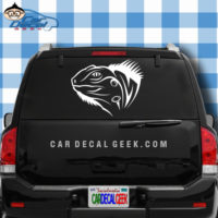 Iguana Head Reptile Car Window Decal Sticker