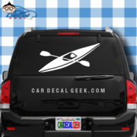 Kayak and Paddle Car Window Decal Sticker