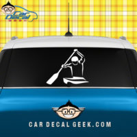 Paddling Kayaker Car truck Window Decal Sticker