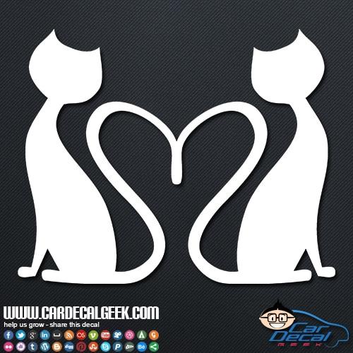 Kitty cats love car sticker