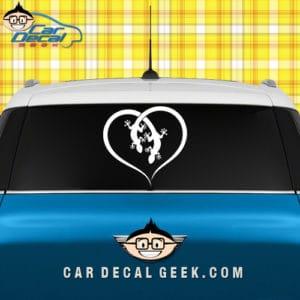 Lizards Forming a Heart Car Window Decal Sticker