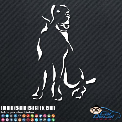 Labrador Car Sticker