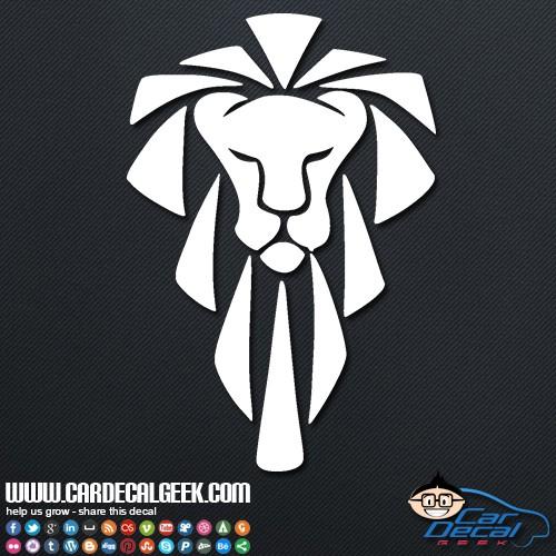 Tribal Lion Head Car Sticker