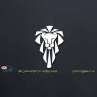 Lion Head Car Decal