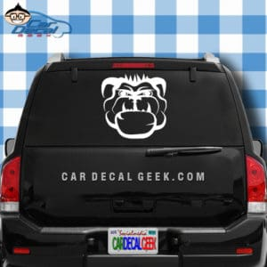 Mean Bulldog Car Window Decal Sticker