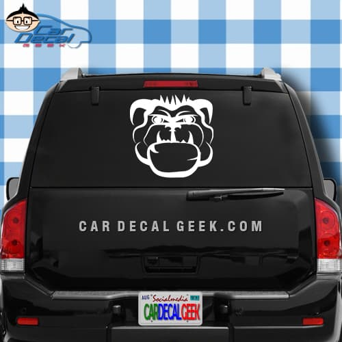 Mean bulldog car truck decal mean bulldog car window decal sticker