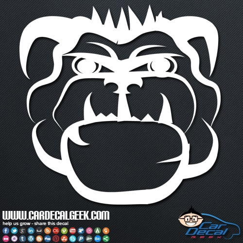 Mean Bulldog Car Sticker