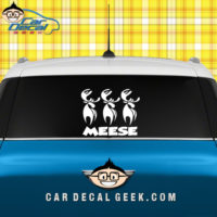 Meese Car Window Sticker Graphic
