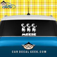 Meese Car Window Sticker Graphic