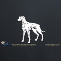 Muscular Greyhound Dog Car Decal