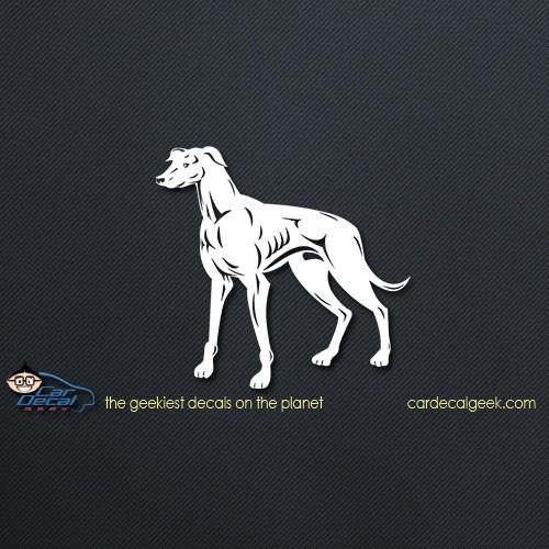 Muscular Greyhound Dog Car Decal