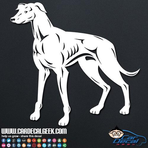 Greyhound Dog Car Sticker