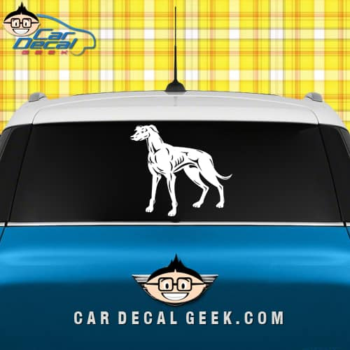 Greyhound Dog Car Window Decal Sticker