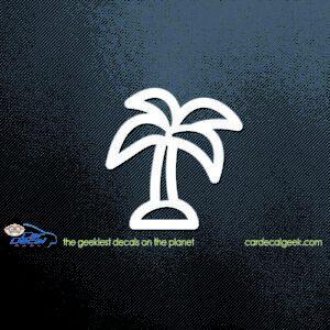 Neon Palm Tree Car Decal
