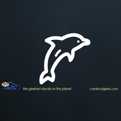 Neon Dolphin Car Decal