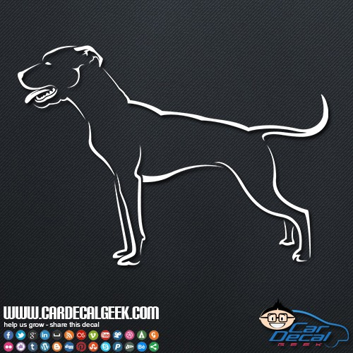 Pitbull Dog Car Sticker