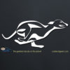 Running Greyhound Dog Decal