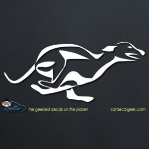 Running Greyhound Dog Decal