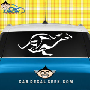 Running Greyhound Dog Car Window Decal Sticker