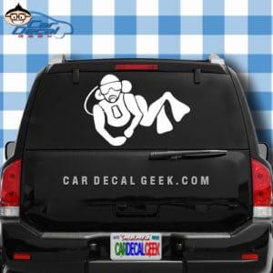 Scuba Diver Guy Car Window Decal Sticker