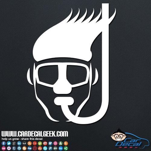 Scuba Diving Snorkeling Mask Car Sticker
