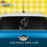 Viper Snake Head Reptile Car Window Decal Sticker Graphic