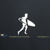 Surfer Dude Car Decal