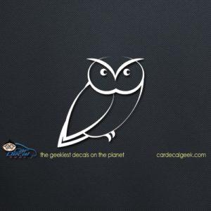 Adorable Owl Car Decal