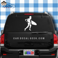 Surfer Dude Car Window Decal Sticker