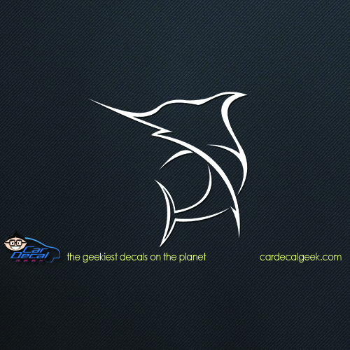 Swordfish Saltwater Fishing Car Decal