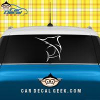 Swordfish Saltwater Fishing Car Window Decal Sticker