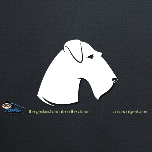 Terrier Dog Face Car Decal