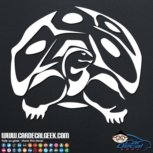 Tortoise Reptile Car Window Sticker