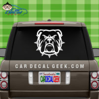 Mean Bulldog Car Window Decal