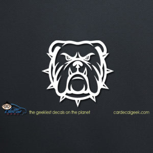 Tough Mean Bulldog Car Window Decal
