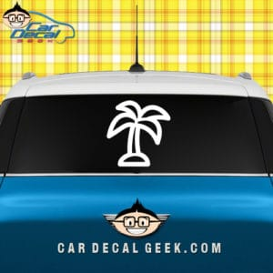 Neon Car Window Decal Graphic