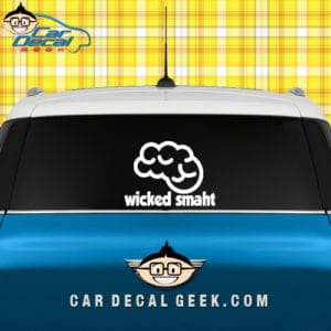 Wicked Smaht Car Window Decal Sticker Graphic