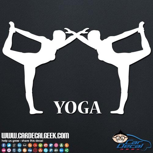 Women Doing Yoga Car Decal Sticker