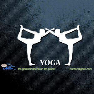 Yoga Women Car Decal