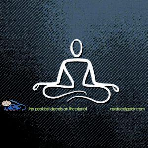 Zen Yoga Pose Car Decal